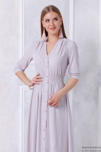 Платье-макси с рубашечным верхом