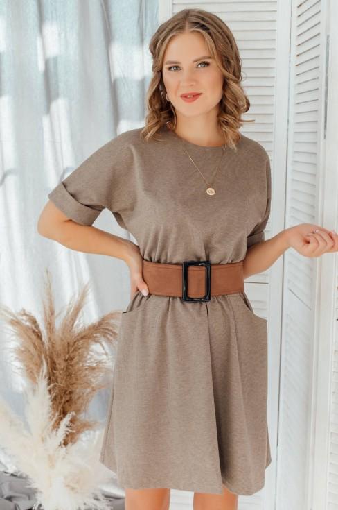 Платье-мини с рукавом летучая мышь