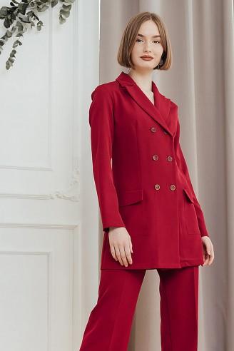 Приталенный пиджак с поясом